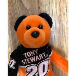 Other - Tony Stewart Stuffed Plush Bear Orange 8 Inches